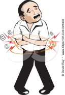 225848-Royalty-Free-RF-Clipart-Illustration-Of-A-Man-With-A-Terrible-Stomach-Ache